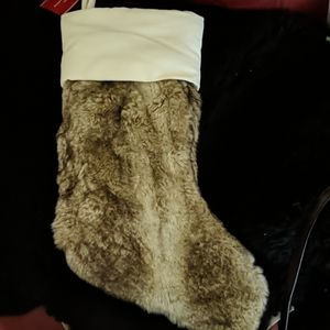 Pottery Barn Faux For Christmas Stocking New